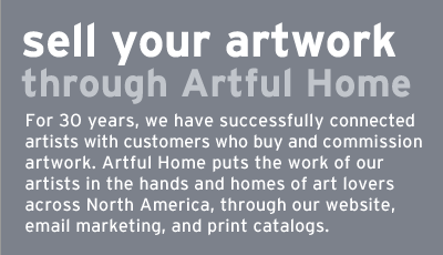 sell your artwork through artful home