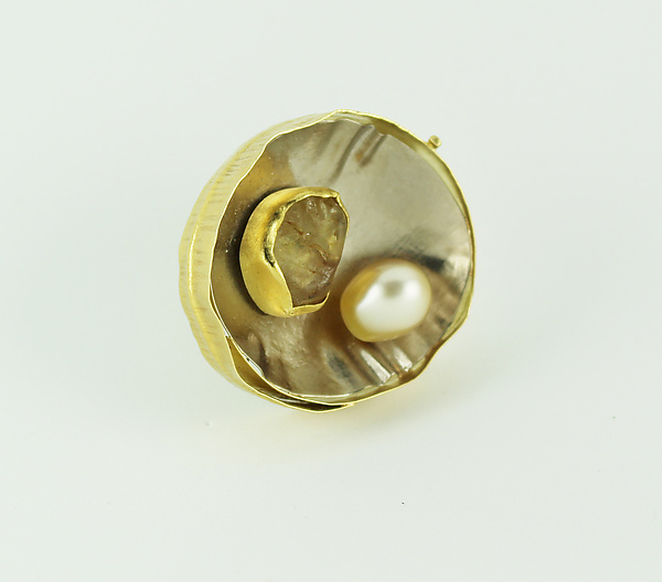 Yellow Bowl Brooch
