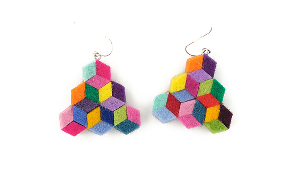Mini Cubic Earrings