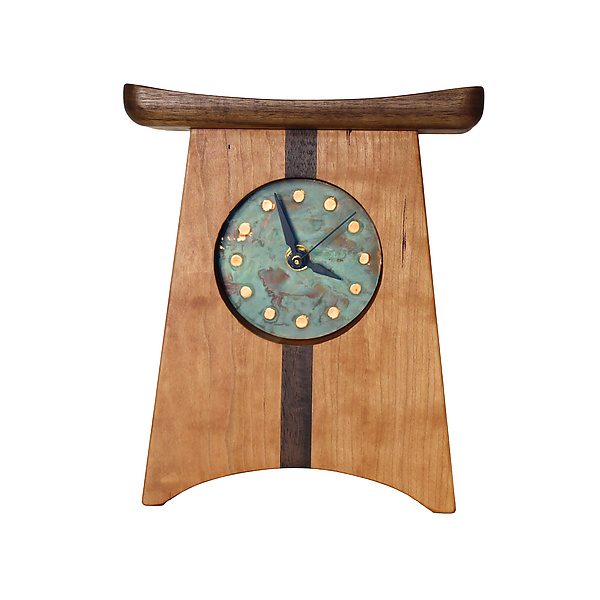 East of Appalachia Mantel Clock with Verde Patina Face