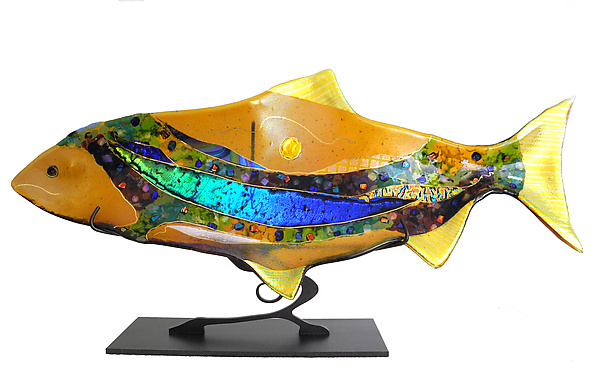 Amber Moon Fish Sculpture