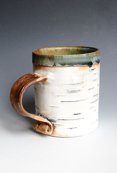 Birch Motif Green Interior Mug