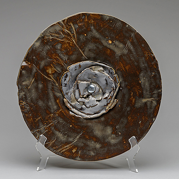 Bronzed Plate with Heirloom Silver