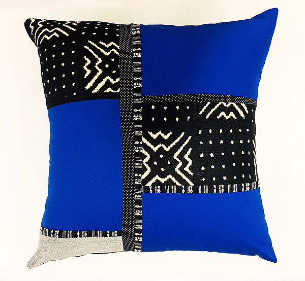 Black and Blue Pillow