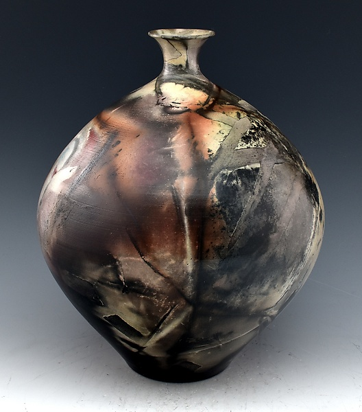 Burnished Sagger Fired Vessel Vase S05
