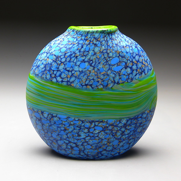 Blue and Green Strata Vase
