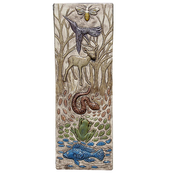 Totem of Animals Tile in Off White
