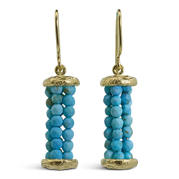 Undulations Turquoise Bead Earrings