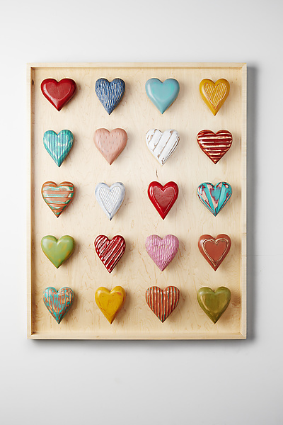 Twenty Heart Vertical Shadowbox