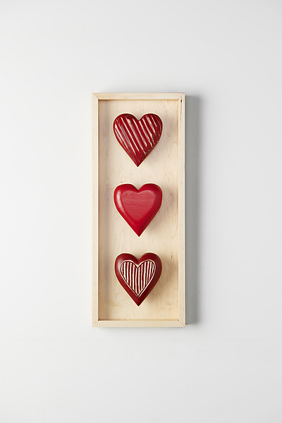 Three Vertical Hearts