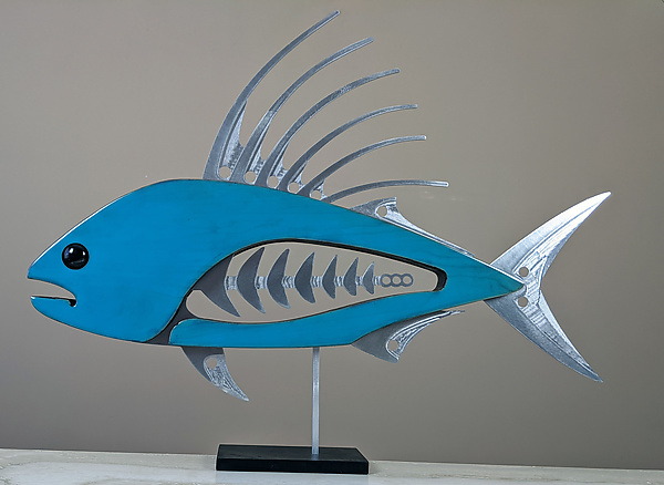 Roosterfish in Blue