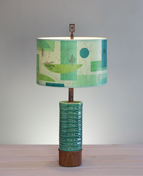 Montage Ceramic and Wood Table Lamp