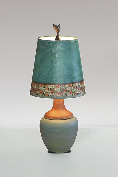Mosaic Ceramic and Maple Table Lamp