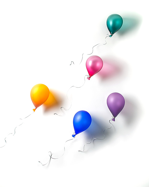 Five Floating Balloons