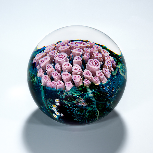 Pink Roses Bouquet Paperweight