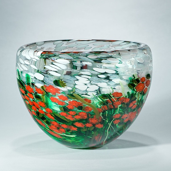 Poinsettia Crystal Bowl