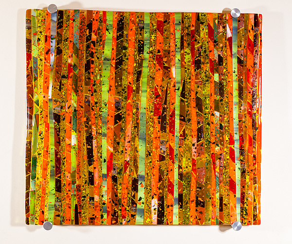 Autumn Meadow Art Glass Sculpture