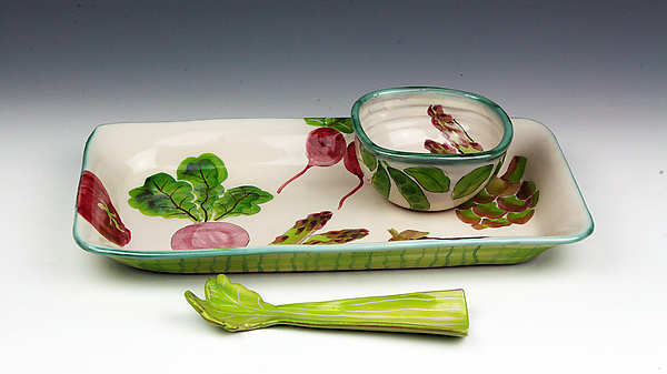 Vegetable Three-Piece Dip Set