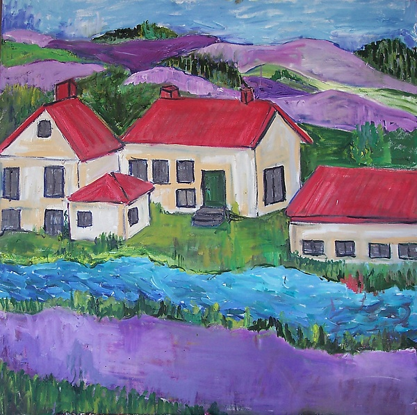 Red Roofs Purple Hills