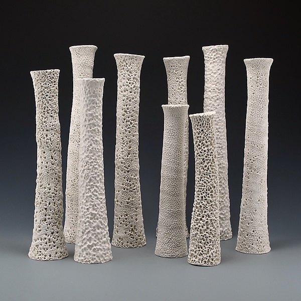 Adriatic Coastal Column Vase Set