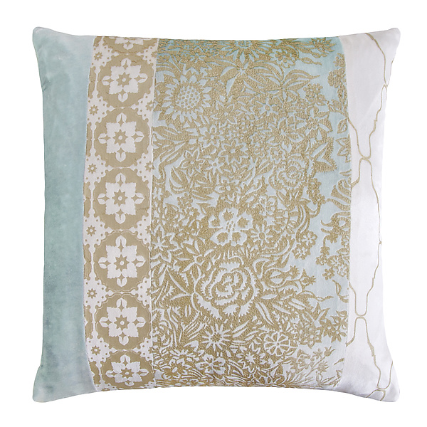 Metallic Garland Small Moroccan Patchwork Pillow