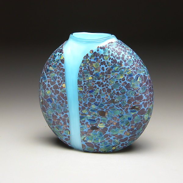 Blue Cascade Vase with Opal Blue Interior