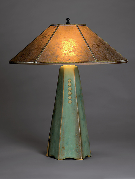Six-Sided Lamp in Celery Glaze