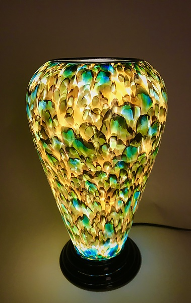 Green & Yellow Table Lamp