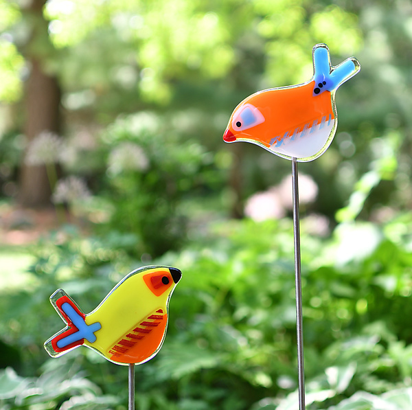 Lucy and Ethel Garden Birds