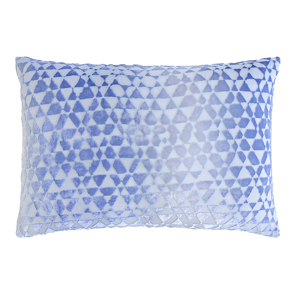Triangles Velvet Lumbar Pillow
