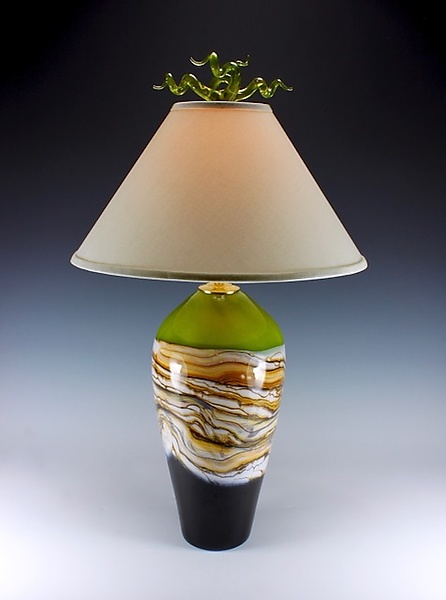 Strata Table Lamp with Juniper Finial
