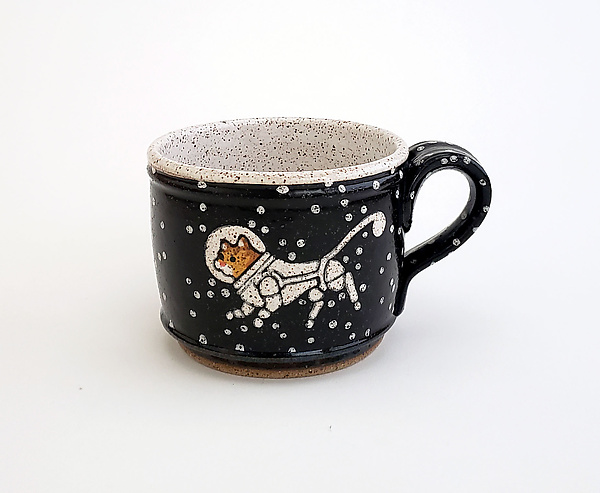 Astronaut Cat Short Mug