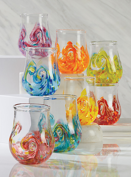 Set of Eight Twisty Cups