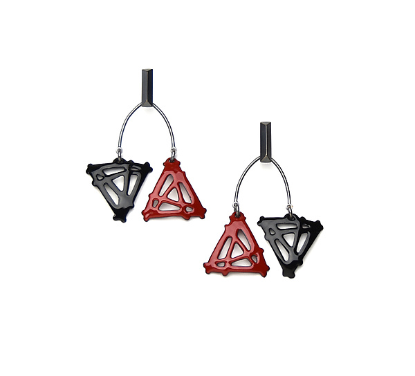 Double Triangle Mobile Earrings