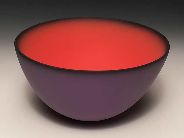 Smooth Bowl with Plum Exterior