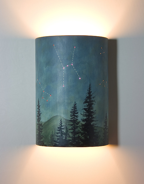 Midnight Sky Ceramic Wall Sconce
