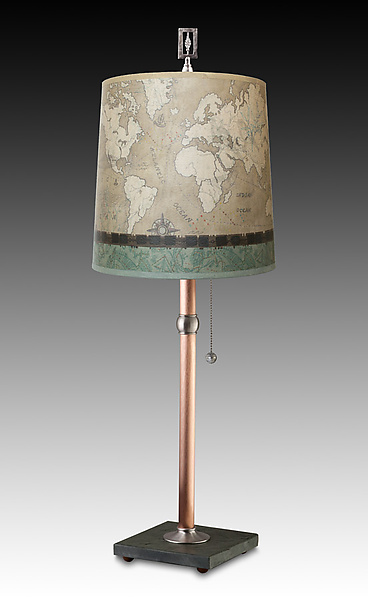 Sand Map Copper Table Lamp