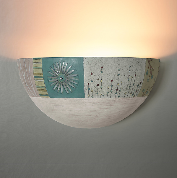 Modern Meadow Ceramic Wall Sconce