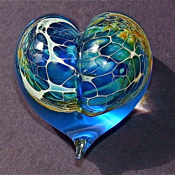 Turquoise Silver Veil Heart