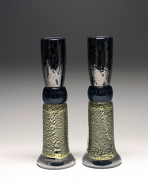 Black and Gold Candlestick Set