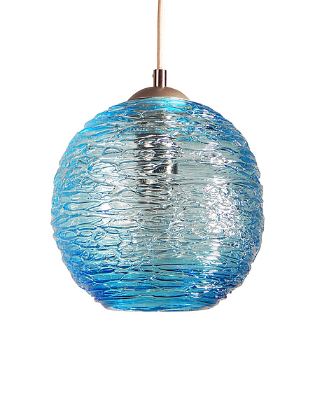 Spun Glass Globe Pendant Light