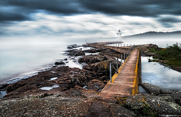Grand Marais Lighthouse in Fog
