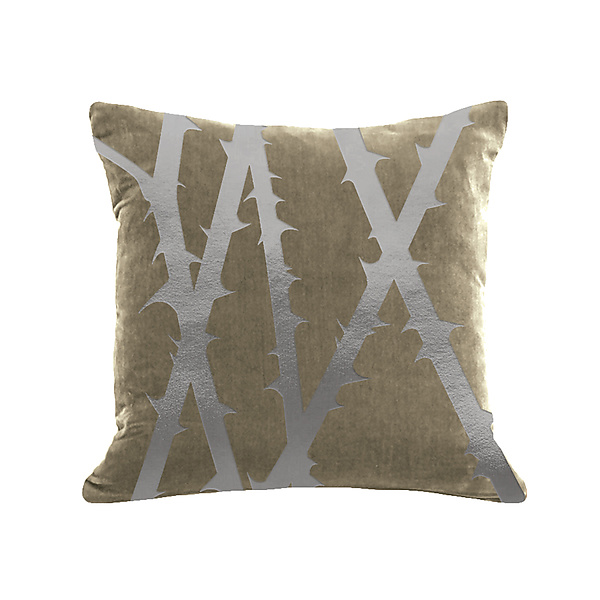 Gilded Luxe Metallic Thorn Pillow