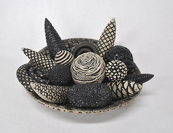 Black and White Bowl and Rattles